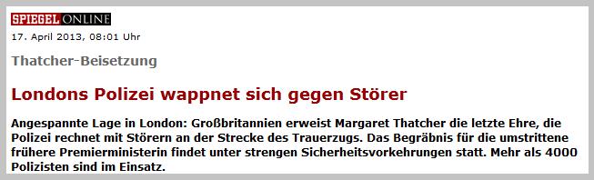 """Aus Demonstranten werden """"Störer"""": Bewußte  Meinungsmache? // Quelle: www.spiegel.de"""