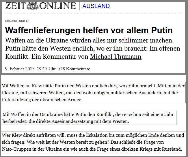 Quelle: http://www.zeit.de/politik/ausland/2015-02/wladmir-putin-angela-merkel-waffenlieferung
