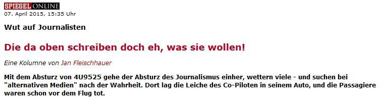 So sieht also Einsicht zur Germanwings-Berichterstattung aus...!?