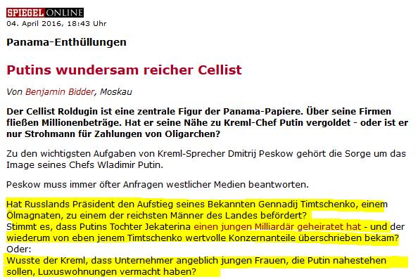 Na, na, na: Soll keiner sagen, Journalisten könnten keine investigativen Fragen stellen... (Quelle: www.spiegel.de)